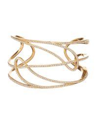 Nadri | Metallic Lupita Pavé Open Cuff Bracelet | Lyst