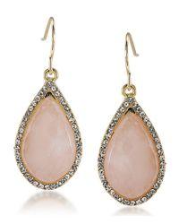 Carolee   Metallic Garden Party Stone Drop Earrings   Lyst