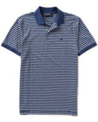 Brooks Brothers | Blue Oxford Horizontal-stripe Short-sleeve Polo Shirt for Men | Lyst
