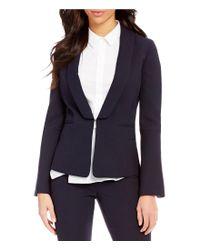 Antonio Melani Blue Francois Textured Novelty Jacket