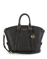 MICHAEL Michael Kors | Black Bedford Belted Medium Satchel | Lyst