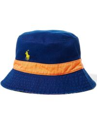Polo Ralph Lauren | Blue Reversible Tropical-print Bucket Hat | Lyst