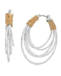 Robert Lee Morris | Metallic Wire-wrapped Multi-row Hoop Earrings | Lyst