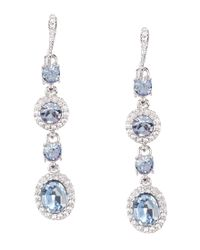 Givenchy | Multicolor Faux-sapphire Linear Drop Earrings | Lyst