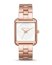 Michael Kors | Multicolor Lake Square Analog Stainless Steel Bracelet Watch | Lyst