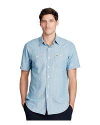Polo Ralph Lauren | Blue Chambray Short-sleeve Solid Woven Shirt for Men | Lyst
