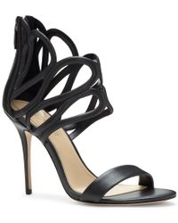 Vince Camuto   Black Imagine By Rile Pearlized Leather Dress Sandals   Lyst