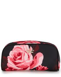 kate spade new york | Black Classic Nylon Berrie Floral Cosmetic Case | Lyst