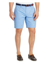 Polo Ralph Lauren | Blue Big & Tall Embroidered Newport Stretch Classic-fit Shorts for Men | Lyst
