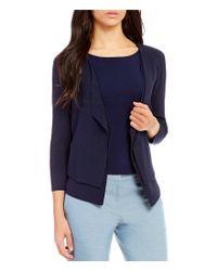 Antonio Melani   Blue Penny 3/4 Sleeve Open Front Knit Cardigan   Lyst
