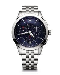 Victorinox | Metallic Alliance Chronograph & Date Stainless Steel Bracelet Watch for Men | Lyst