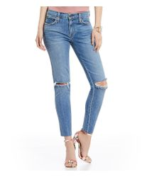 James Jeans   Blue Mid Rise Ankle Skinny Jeans   Lyst