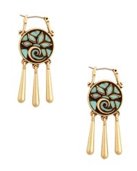 Lucky Brand | Metallic Mosaic Turquoise Drop Earrings | Lyst