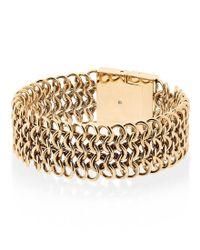 Michael Kors | Metallic Gold-tone Logo-engraved Magnetic Bracelet | Lyst