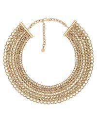 Michael Kors - Metallic Haute Hardware Goldtone Statement Collar Necklace - Lyst