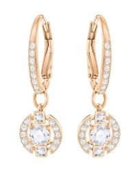 Swarovski - Metallic Sparkling Pavé Drop Earrings - Lyst