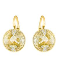 Swarovski   Metallic Globe Pierced Earrings   Lyst