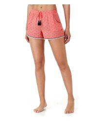 Kensie | Multicolor Crochet-trimmed Ditsy Sleep Shorts | Lyst