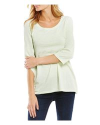 Eileen Fisher | Multicolor 3/4 Sleeve Top | Lyst