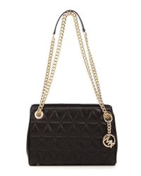9c46be03f7295d MICHAEL Michael Kors. Women's Black Scarlett Quilted Medium Cross-body Bag