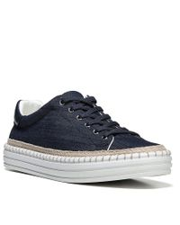 Sam Edelman - Blue Kavi Denim Sneakers for Men - Lyst