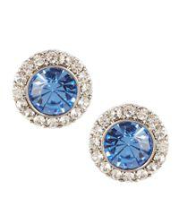 Carolee - Something Blue Stud Earrings - Lyst