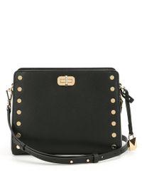 8b4194dd1a1b6 Lyst - MICHAEL Michael Kors Sylvie Stud Cross-body Bag in Black