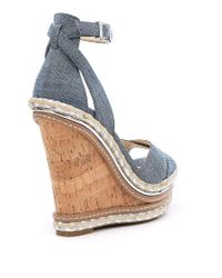 Jessica Simpson - Blue Ahnika Ankle-strap Wedge Pumps - Lyst