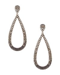 Nadri - Black Grey Pave Drop Earrings - Lyst