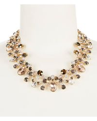 Givenchy - Metallic Stone Drama Necklace - Lyst