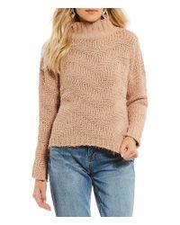 Chelsea & Violet Natural Chevron Sweater