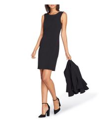 Tahari Black Tiered Ruffle Bell Sleeve Jacket Dress