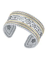 Lucky Brand - Metallic Openwork Cuff Bracelet - Lyst