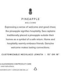 ALEX AND ANI Metallic Pineapple Cuff
