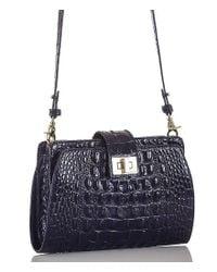 Brahmin - Black Melbourne Collection Alena Croco-embossed Cross-body Bag - Lyst