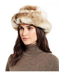 Lyst - Parkhurst Josephine Faux-fur Hat in Black 9b291f99e12