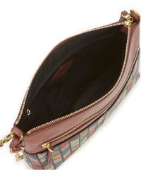 Fossil - Multicolor Fiona Chevron Large Cross-body Bag - Lyst