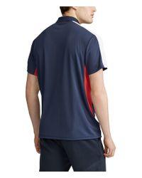 Polo Ralph Lauren Blue Big Tall Tech Pique Big Pony Short-sleeve Polo Shirt for men