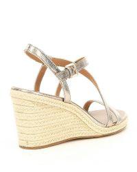 CALVIN KLEIN 205W39NYC - White Bellemine Espadrille Wedge Sandals - Lyst