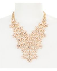 Dillard's - Pink Daisies Bib Statement Necklace - Lyst