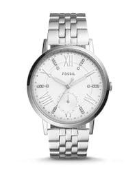 Fossil | Metallic Gazer Multifunction Stainless Steel Bracelet Watch | Lyst