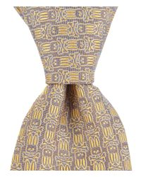 "Psycho Bunny - Yellow All Over Bunny Narrow 3"" Silk Tie for Men - Lyst"