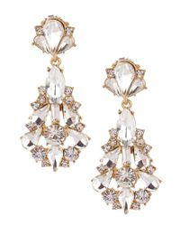 Belle By Badgley Mischka - Metallic Jonette Chandelier Statement Earrings - Lyst