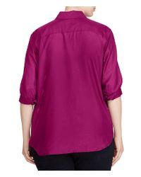 Lauren by Ralph Lauren | Purple Plus Cotton-silk Voile Shirt | Lyst