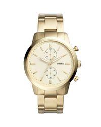 Fossil - Metallic Townsman Chronograph Bracelet Watch - Lyst