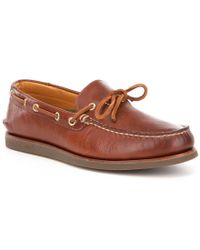 Sperry Top-Sider - Brown Men ́s Gold Authentic Original 1-eye Wedge Boat Shoe for Men - Lyst