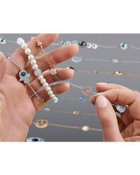 Swarovski - Metallic Remix Collection Hamsa Line Bracelet - Lyst