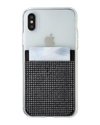 Swarovski Black Crystal Embellished Smartphone Sticker Pocket