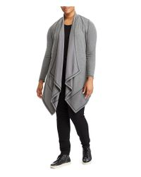 Lauren by Ralph Lauren - Gray Plus Draped Open-front Cardigan - Lyst