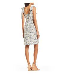 Antonio Melani - Multicolor Made With Liberty Fabrics Hansen Heidi Meadow Floral Print Bow Strap Dress - Lyst
